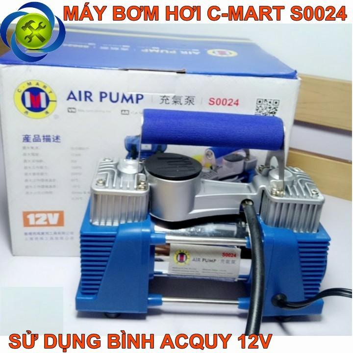 Máy bơm hơi dùng bình Acquy C-Mart S0024 1