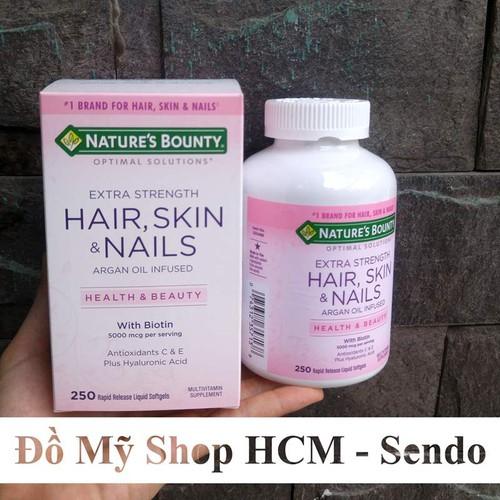 Viên Uống Đẹp Da Tóc Móng Hair Skin Nail Nature Bounty 250 Viên