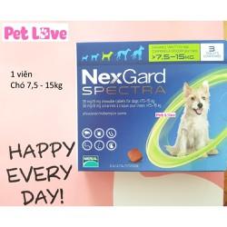 1 viên NexGard Spectra trị giun, ghẻ, viêm da, ve rận, chó 7,5 - 15kg