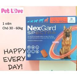 1 viên NexGard Spectra trị giun, ghẻ, viêm da, ve rận, chó 30 - 60kg