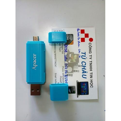 Apacer OTG Card Reader Dual USB_Apacer AM702, chuẩn USB và MicroUSB