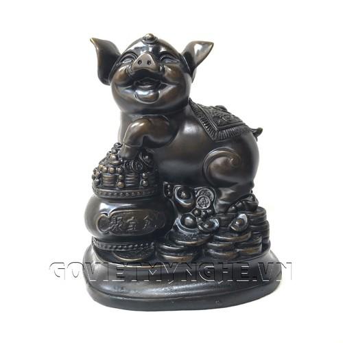 Tượng Đá Trang Trí Heo Phong Thủy - Size Lớn - Đá Màu