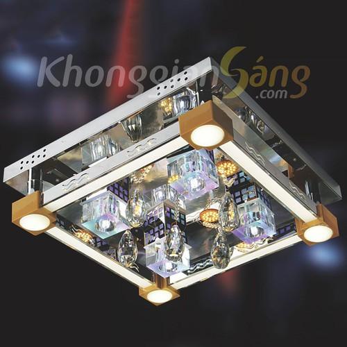 ĐÈN ỐP TRẦN LED VUÔNG_PHI 500mm x H150mm