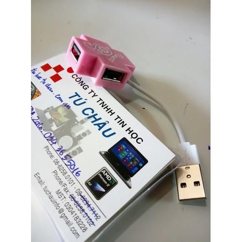 Hub USB Cliptec RZH209 Mini - Xcross 4Port, chuẩn 2.0, Dây dài 8.5 Cm