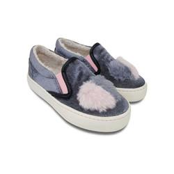 Giày bé gái NomNom NG1604 nhung ghi
