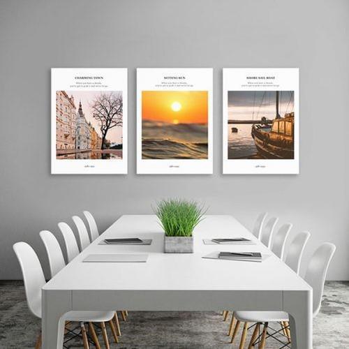 Bộ 3 tranh trang trí phong cảnh – W370
