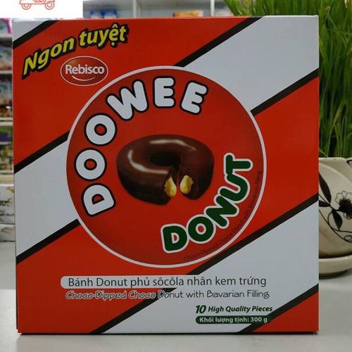 Hộp bánh Donut Doowee 300gr 10 chiếc - 5959681 , 12477310 , 15_12477310 , 48000 , Hop-banh-Donut-Doowee-300gr-10-chiec-15_12477310 , sendo.vn , Hộp bánh Donut Doowee 300gr 10 chiếc