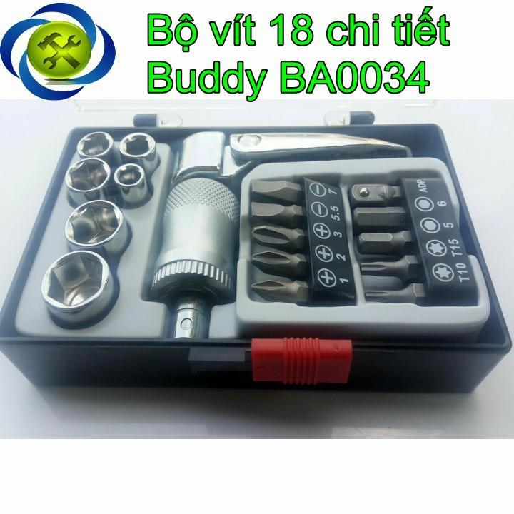 Bộ vít 18 chi tiết Buddy BA0034 1