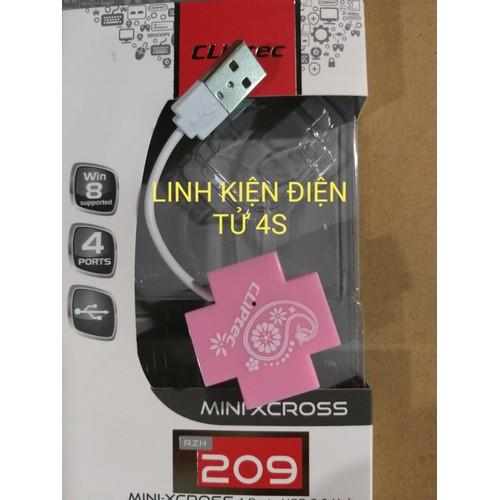 Hub USB Cliptec RZH209 Mini - 4Port, chuẩn2.0 màu ngẫu nhiên