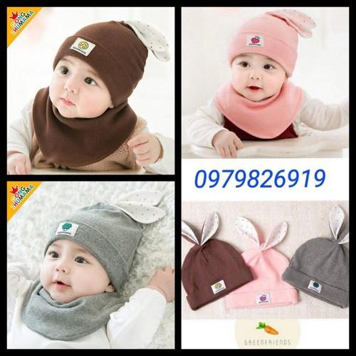 Sét 2 bộ mũ khăn cotton taii thỏ cho bé - 18963567 , 12473361 , 15_12473361 , 125000 , Set-2-bo-mu-khan-cotton-taii-tho-cho-be-15_12473361 , sendo.vn , Sét 2 bộ mũ khăn cotton taii thỏ cho bé