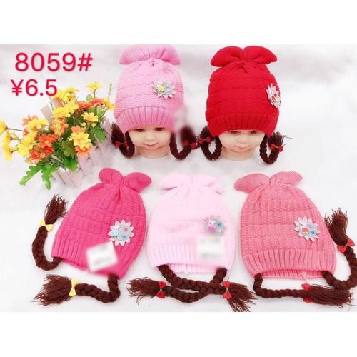 Mũ len dành cho bé gái siêu đáng yêu đa sắc màu