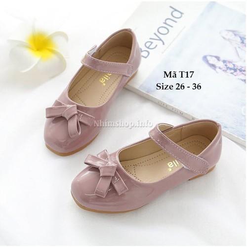 Giày tím pastel cao cấp cho bé gái - học sinh nữ sành điệu T17
