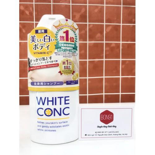 Sữa tắm trắng da toàn thân White Conc Body 360ml - 9085354 , 18773710 , 15_18773710 , 400000 , Sua-tam-trang-da-toan-than-White-Conc-Body-360ml-15_18773710 , sendo.vn , Sữa tắm trắng da toàn thân White Conc Body 360ml