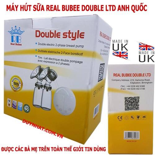 Máy hút sữa điện hút 2 bên có Massage Real Bubee Anh Quốc