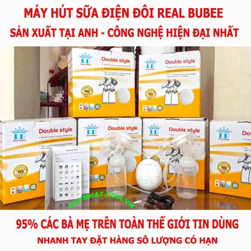Hút Sữa Điện Real Bubee - Bộ Máy Vắt Sữa Cao Cấp Từ Anh