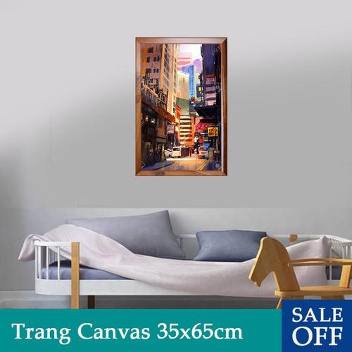 Tranh treo tường, tranh trang trí tường canvas nghệ thuật 35x65cm