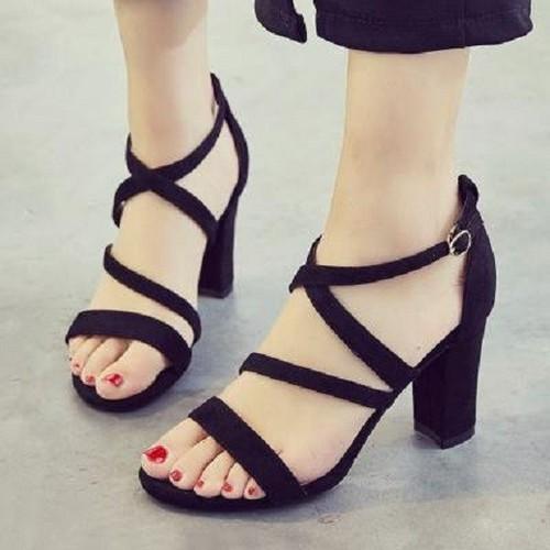 Giày sandal cao gót |Bảo hành keo