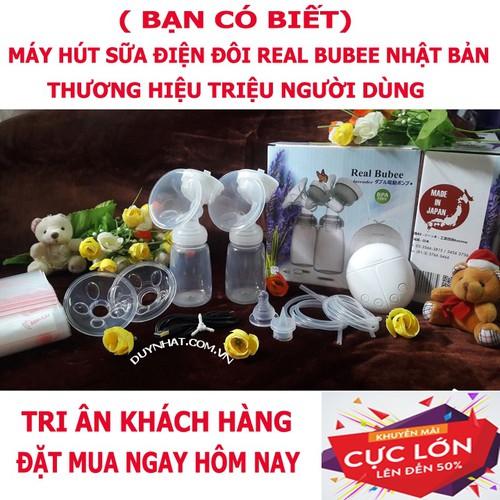 Máy vắt sữa điện đôi Real Bubee Nhật Bản - Giải pháp