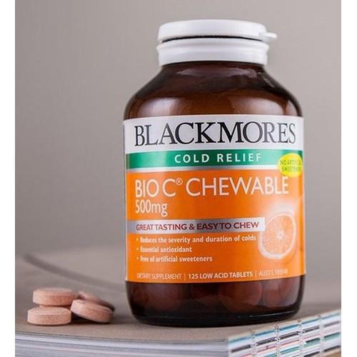 Viên nhai Blackmores Bio C Chewable - 200 viên Vitamin C
