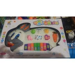 đồ chơi đàn con thỏ đánh nhạc