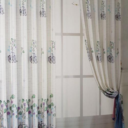 Rèm Cửa 2 mặt 2 da, Vải dày Khoen Ore, Hoàng Yên  R4-042v2