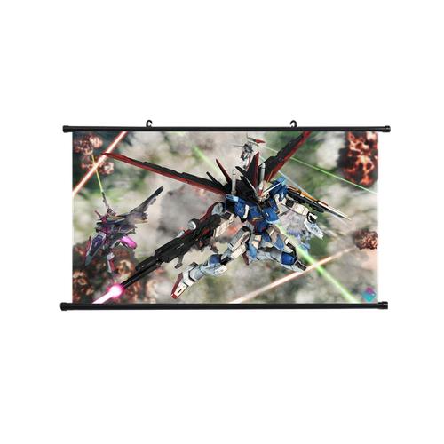 Tranh vải lụa treo tường trang trí phòng hình Gundam 35x25cm - Hình 9
