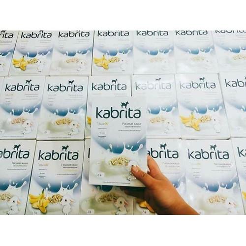 Bột ăn dặm sữa dê Kabrita vị Chuối ngũ cốc 6m180gr Nga