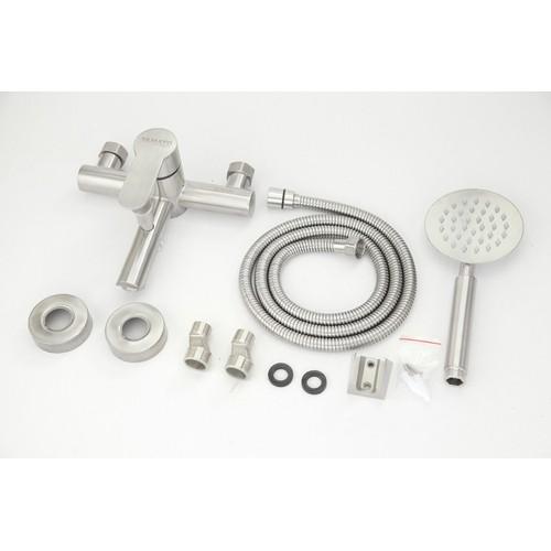 Bộ vòi sen nóng lạnh thân tròn Inox 304 CSNI03 - Vòi sen tắm nóng lạnh