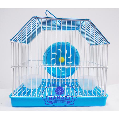 Lồng Hamster BABALI PRODUCT Size Mini 22*19*16 - Màu Xanh Nấp Lục Giác