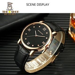 đồng hồ đôi dây da - đồng hồ đôi dây da 001 3