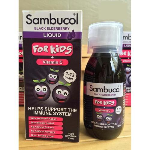 Sambucol của Anh tăng đề kháng cho bé từ 1-12 tuổi