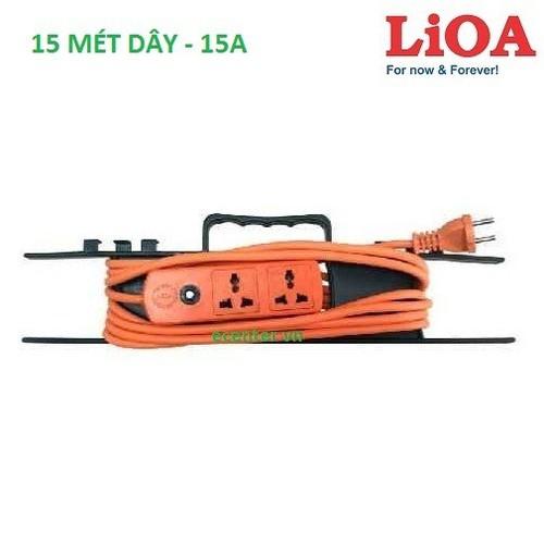 Ổ cắm công trường LIOA S2TH15-2-15A đa năng - 15m dây