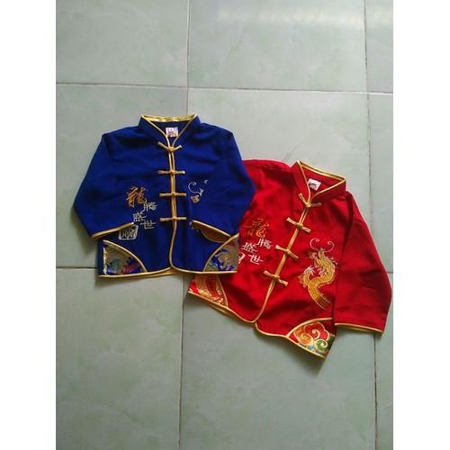 Áo in hình rồng cho bé trai màu đỏ size 2
