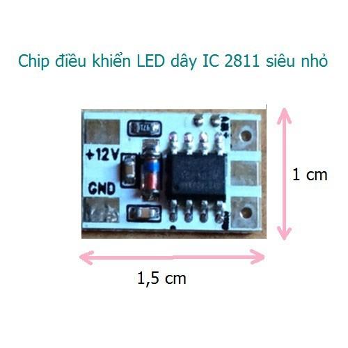 Mạch DK LED dây Full color sử dụng chip WS2811 UCS1903 siêu nhỏ