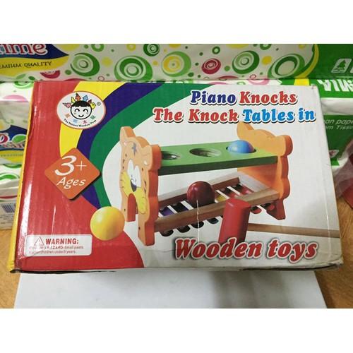 Bộ đồ chơi đập bóng gõ đàn hình chú hổ bằng gỗ