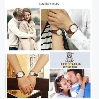 đồng hồ đôi dây da - đồng hồ đôi dây da 001 7
