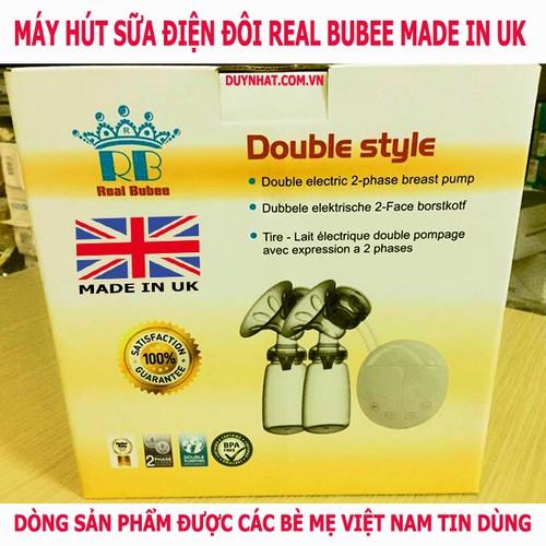 Máy hút sữa điện đôi Real Bubee - Thiết bị nhập khẩu từ Vương Quốc Anh