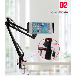 Giá đỡ, đế kẹp điện thoại iPad có chân kẹp đầu giường, cạnh bàn [ĐƯỢC KIỂM HÀNG] 12511748