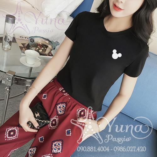 Áo Cotton Thun Thái Thêu Gấu Xinh Xắn Có 8 Màu 2 Size - Yuna Boutique
