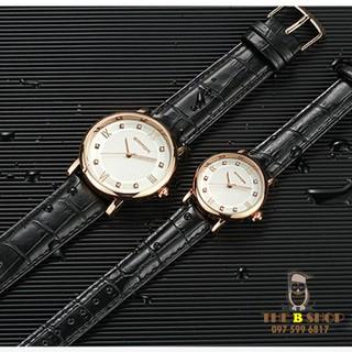 đồng hồ đôi dây da - đồng hồ đôi dây da 001 8