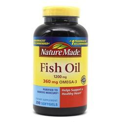 Viên Uống Dầu Cá Omega 3 Nature Made Fish Oil 1200mg 200 viên