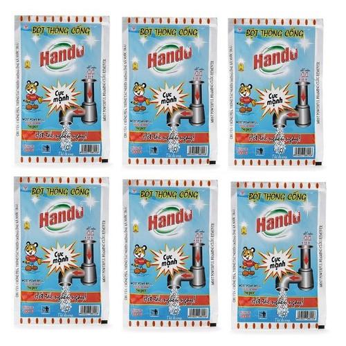 Bộ 6 gói bột thông cống nội địa Hando 100g - 6015206 , 12527897 , 15_12527897 , 180000 , Bo-6-goi-bot-thong-cong-noi-dia-Hando-100g-15_12527897 , sendo.vn , Bộ 6 gói bột thông cống nội địa Hando 100g