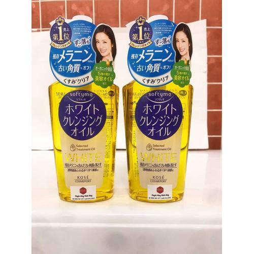 Dầu tẩy trang Kose Softymo white Cleansing Oil 230ml