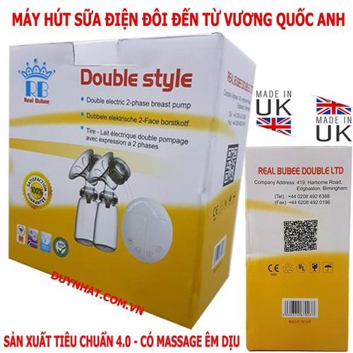 Máy Hút Sữa Real Bubee Anh - Máy Hút Sữa 2 Bình Kết Hợp Massage