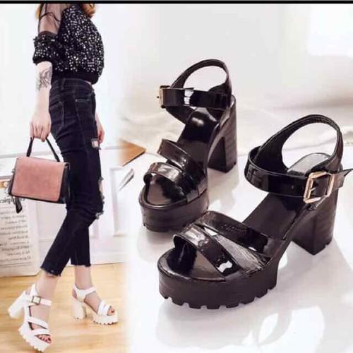 Giày sandal cao gót đế thô chống đau chân 150