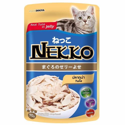 Pate nekko cho mèo vị cá ngừ dạng thạch 70g