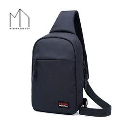 Túi đeo chéo một quai cho nam thời trang kiểu dáng Dxyizu – Đen