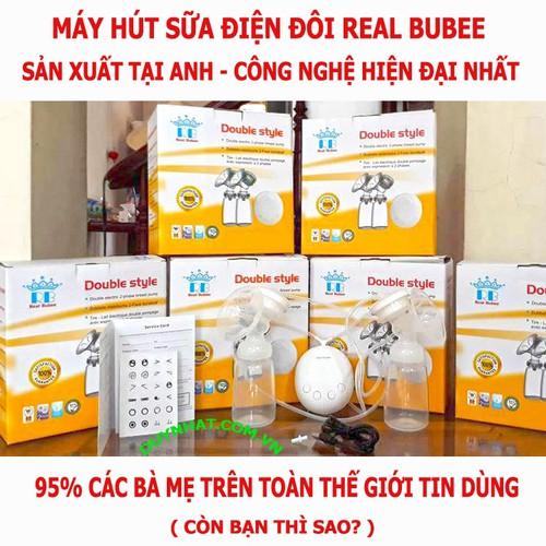 Máy Vắt Sữa Real Bubee - Máy Vắt Sữa Kết Hợp Massage Cực Êm