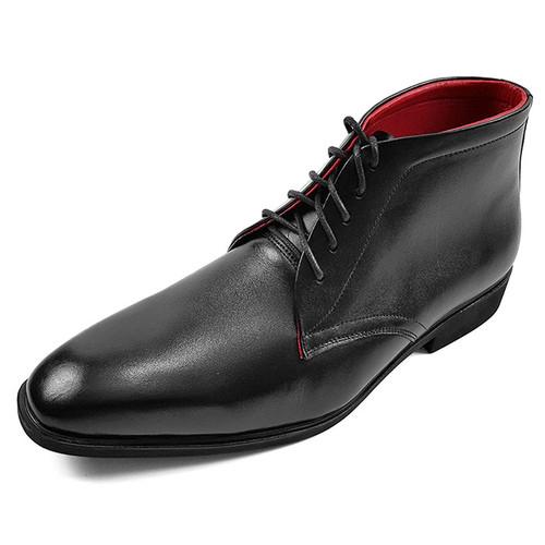 Giày Boot Nam Da Bò Tấm Cổ Lửng Ensado CL02SP
