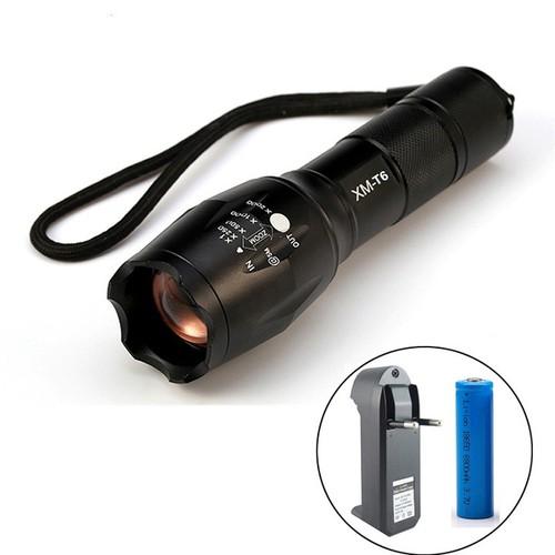 Đèn pin T6 pin sạc siêu sáng